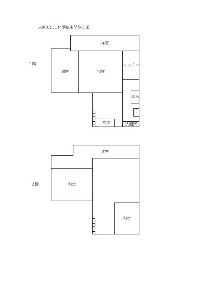 米原お試し体験住宅間取り図のサムネイル